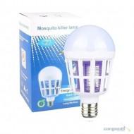 Lâmpada Mata Mosquito 15w 2 Em 1 Luz Led/uv Anti-mosquito